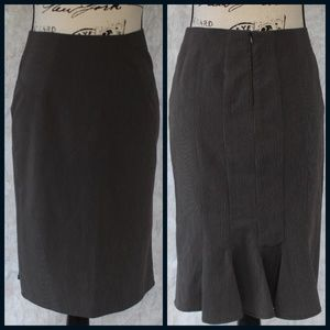BOGO! BCX, Pinstriped Pencil Skirt with Ruffle - 5